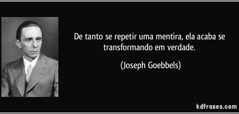 Goebbels - Manipulação de Massas