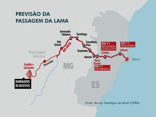 Mapa da Lama - Rio Doce