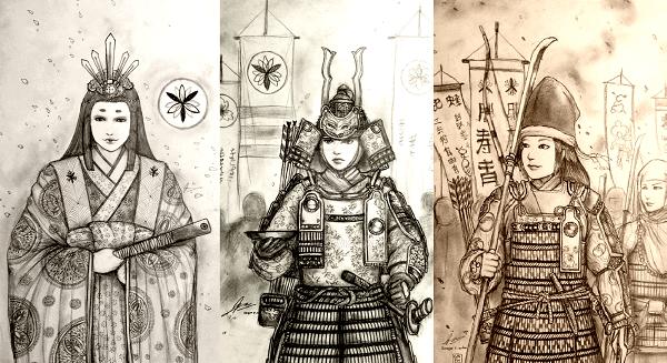 Mulheres Guerreiras Samurai