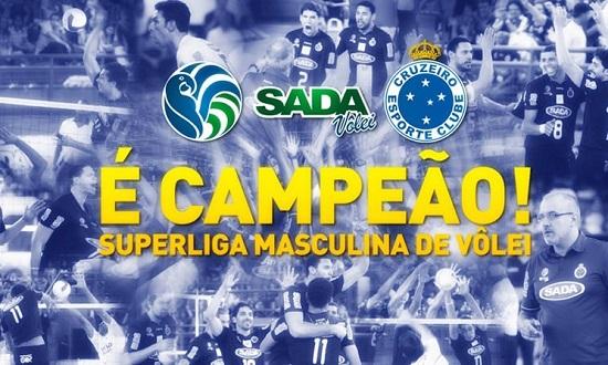 Sada Cruzeiro Supercampeao Superliga